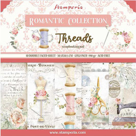 """Stamperia-Romantic Collection-Threads 12x12"""""""