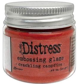 Distress-Embossing Glaze/crackling campfire