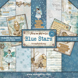 "Stamperia-Paper Pad Blue Stars 12x12"""