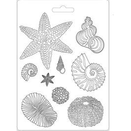 Stamperia-Soft Maxi Mould/Shells A4