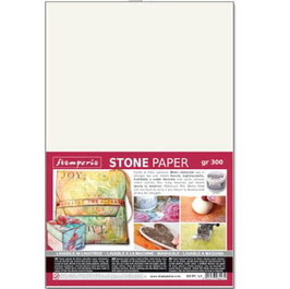 Stamperia-Stone Paper/Steinpapier A3 Weiss