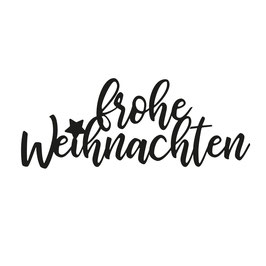 """Vaessen Creative by Mundart Stempel-Stanzform """"frohe Weihnachten"""""""