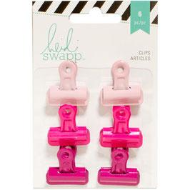 Heidi Swapp/Bulldog Clips-Pinks