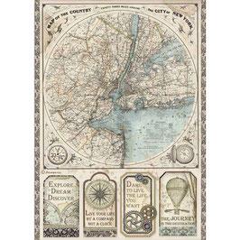 Stamperia Reispapier A4-Sir Vagabond DFSA4515