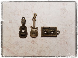 Vintage Metall Charms-Musik