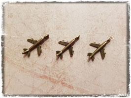 Metall Charms-Flugzeug Bronce-185