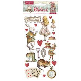 Stamperia-Chipboard Alice In Wonderland