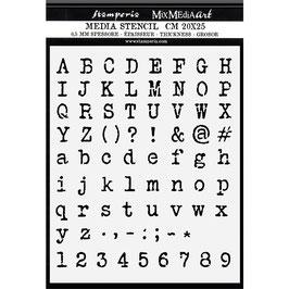 Stamperia-Stencil/Calligraphy KSTD061