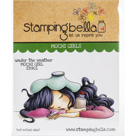 Stamping Bella-Cling Stamp/Under The Weather Mochi Girl