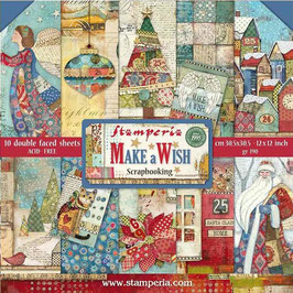 Stamperia-Paper Pad Make a Wish 12x12""