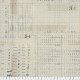 Free Spirit-Memoranda III-by Tim Holtz/Multiplication Table