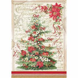 Stamperia Reispapier A4-Classic Christmas DFSA4476