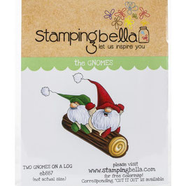 Stamping Bella-Cling Stamp/Two Gnomes On A Log