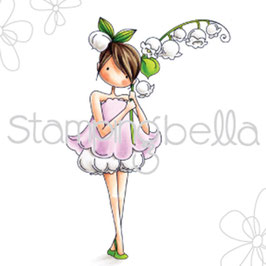 Stamping Bella-Cling Stamp/Garden Girl Lily Of The Valley