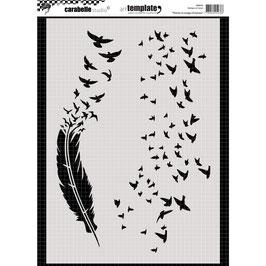 Carabelle Studio-Stencil/Plumes et nuages