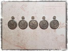 Metall Charms-Uhr Silber-201