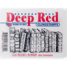 Deep Red-Stempel/Old Books Border