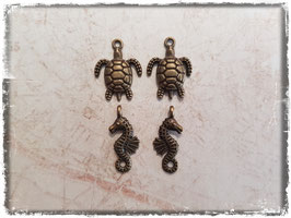 Vintage bronce Charms - Tiere 130-1