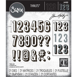 Sizzix by Tim Holtz Thinlits-Stanzform/Alphanumeric Shadow Numbers