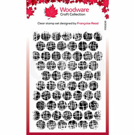 Woodware-Stempel/Textured bubbles