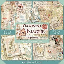 Stamperia-Paper Pad Imagine Maxi 12x12""