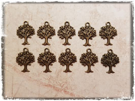 Metall Charms-Baum Bronce-190