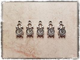 Metall Charms-Uhr Silber-264