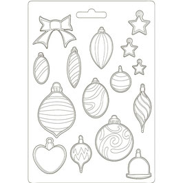 Stamperia-Soft Mould A4-Romantic Christmas-Balls K3PTA4510