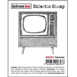 Darkroom Door-Eclectic Cling Stamp/Television