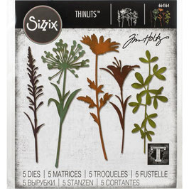 Sizzix by Tim Holtz Thinlits-Stanzform/Wildflower Stems #2