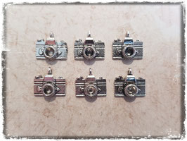 Metall Charms-Fotoapparat Silber-210