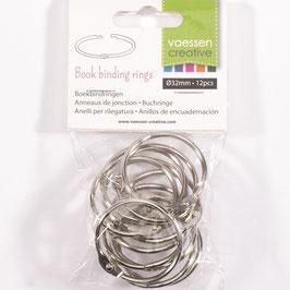 Vaessen Creative Buchringe/silver 32mm