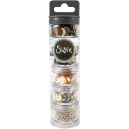 Sizzix Making Essential/Sequins & Beads-Rose Gold