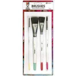 Dina Wakley-Media Brushes/Pinsel Set 4 Stück