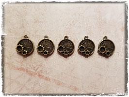 Metall Charms-Uhr Bronce-1-114