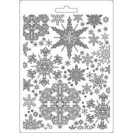 Stamperia-Soft Mould A5-Snowflakes K3PTA556