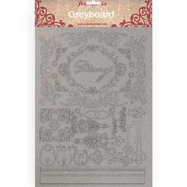Stamperia Greyboard-Karton Stanzteile/Diary KLSPDA411