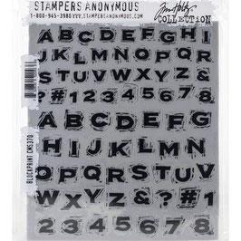 Tim Holtz Stempel Set-Blockprint/CMS370