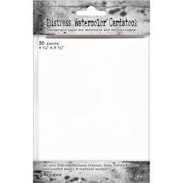 "Distress-Watercolor Cardstock 4.25""x5.5"""