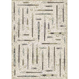Stamperia Reispapier A3-Calligraphy DFSA3082