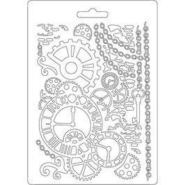 Stamperia-Soft Mould A5-Clock & Mechanisms K3PTA508