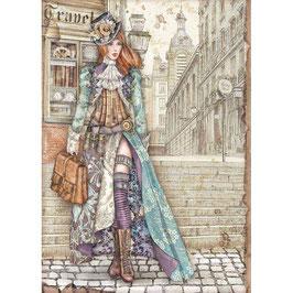 Stamperia Reispapier A4-Lady Vagabond DFSA4518