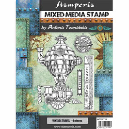Stamperia-Stempel/Sir Vagabond-Vintage Travel