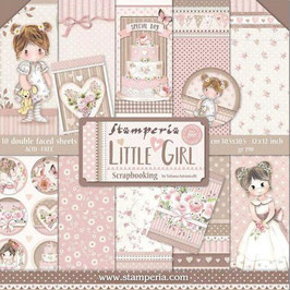 Stamperia-Paper Pad Little Girl 12x12""