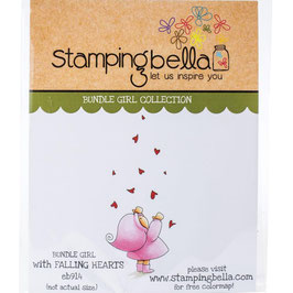 Stamping Bella-Cling Stamp/Bundle Girl With Falling Hearts