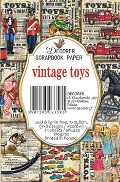 Decorer-Ephemera Karten/Vintage Toys