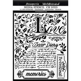 Stamperia-Stencil/Calligraphy KSTD059