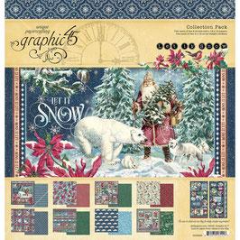 """Graphic 45-Paper Pad Let It Snow (1) 12x12"""""""