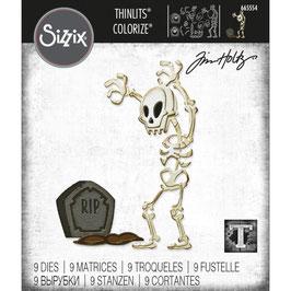 Sizzix by Tim Holtz Thinlits-Stanzform/Mr. Bones Colorize