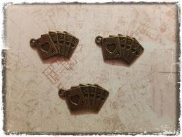 Metall Charms-Poker Karten Bronce-1-128